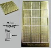 Brass Etch - Raised Metal Grid Flooring