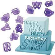 Honearn Cake Letter Cutters 40 Pcs Fondant Alphabet Icing Cutout Decorating Set