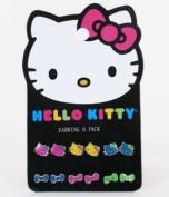 Earring Pack - Hello Kitty - New Sanrio Neon Set-6 Toys Gifts sane0055
