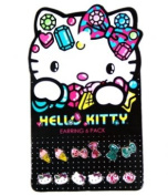 Earring Pack - Hello Kitty - New Sanrio Jewels Set-6 Toys Gifts sane0052