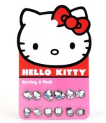 Earring Pack - Hello Kitty - New Sanrio Cupcake Set-6 Toys Gifts sane0051