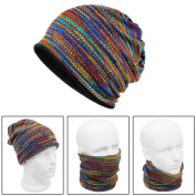 Xcellent Global Unisex Multi Use Knit Winter Hat Neck Warmer Headband Beanie Mask Neck Gaiter Multicolor SP047