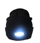 HXY Running hat, 5 LED Flashlight Keep Warm Light Beanie Hands Free Unisex Hat Cap for Outdoors Sports,Hunting,Camping,Grilling,Jogging,fishing,Handyman Working