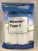 Hoover I Synthetic Vacuum Bag - 12 pack, by ABG for Hoover Platinum Canister UH30010COM. .  Hoover 985059002,AH10005