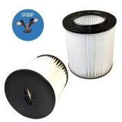 HQRP 2-pack 18cm Filter for Dirt Devil Pro 390, 499e, 599e, 590, 699e, 690, 799e, 890, 990, 1099e, Platinum Force 299e H-P Central Vacuum Systems, 8106-01 Replacement + HQRP Coaster