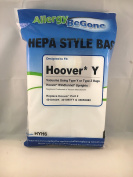 Hoover Type Y HEPA Filter Bag - 6 pack, by ABG. Compare With Hoover Part# AH10040, AH10165, 902419001