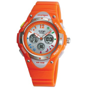 Pasnew High Quality Water-proof 100m Dual Time Unisex Child Outdoor Sport Watch Orange
