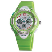PASNEW High Quality Water-proof 100m Dual Time Unisex Child Outdoor Sport Watch Green
