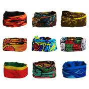 Landisun 6PCS & 9PCS 16-in-1 High Elastic Magic Headband, Seamless Scarf Bandanas Tube For Outdoor & Casual