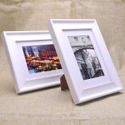 Home Decoration Photo Wall Grade wood picture frames imported from New Zealand pine frame tables placed Pearl White WF
