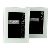Home Decoration Photo Wall 15cm wide-brimmed glass photo frame white 2 sets of graffiti signature can be placed horizontally and can be stacked vertically WF