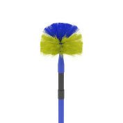 Domed Cobweb Brush Indoor Corner Cleaning Broom with Extending Handle