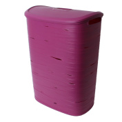 Curver Design Plastic Laundry bin Hamper with lid to the linen storage and Transport Purple 49L Oval