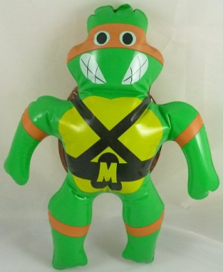40cm Vintage Teenage Mutant Ninja Turtles Inflatable Toy - Orange Turtle - Michelangelo