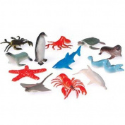 2 Dozen (24) Mini Plastic OCEAN ANIMALS Figures 6.4cm TOYS Birthday PARTY favours Prizes SEA LIFE Fish SEALIFE - Penguin LOBSTER Stingray CUPCAKE Toppers Teacher Rewards