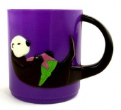 Sea Otter children's plastic drinking cup purple - F650p B130