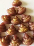 15 Emoji Poop Poo Poo Mini Tiny Soaps Funny Christmas Kids iPhone Birthday Gift Chocolate Scent O