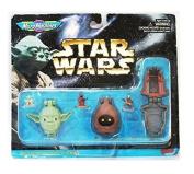 Star Wars Micro Machines Mini Heads With Mini Figures Collection III Jawa, Yoda and Princess Leia