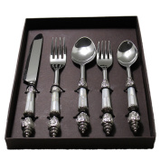 STREET CRAFT Gifts Pack Handcrafted Premium Stainless Steel Flatware / Cutlery Set ,Dinnerware , Serving Set