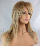 Kims Wigs Ladies Womens Long Heat Resistant Two Tone Blonde Flicked and Layered Wig by Kims Wigs