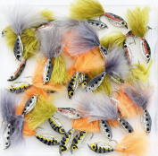 Mixed Assortment of MINNOW FRY - TROUT Fly Fishing Flies UK, MINNOW lures set, Hook sizes 6 8 10 11.4ly's 10, 25