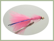 6 Pack of Goldhead Pink Blue Flash Damsel Size 10