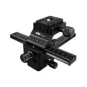 KIWIFOTOS FC-1II Professional 4-Way Macro Focusing Rail Slider with Arca Swiss Quick Release Plate for Canon Nikon Pentax Olympus Sony for Samsung Other Digital SLR Camera and DC with 0.6cm -20 Female Screw