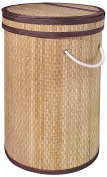 Gelco 707791 Bamboo Laundry Basket NATURAL Fabric 39.5 x 37 x 56 cm