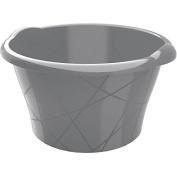 KIS 8706000 0084 10 Litre Bowl, Round, Plastic, silver, 38 x 36 x 18 cm
