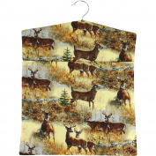 Canadian Wild Deer Laundry Peg Bag with Wooden Hanger