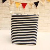 Qearly Foldable Handles Rectangular Design Laundry Hamper Pop Up Storage Hamper Laundry Bin Laundry Basket For Dirty Clothes With Lid-Stripe
