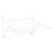 Sauvic White Plastic Coated Balcony Extendable Clothes Airer