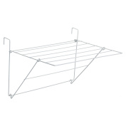 Sauvic White Plastic Coated Balcony Clothes Airer