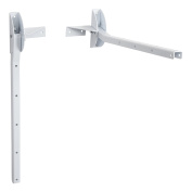 Sauvic White Foldable Wall Clothes Airer
