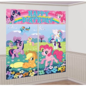 My Little Pony Giant Scene Setter Wall Decorating Kit Birthday Party by Amscan TOY