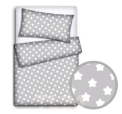 BABY BEDDING SET PILLOWCASE + DUVET COVER 2PC TO FIT BABY COT BED