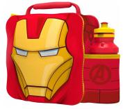 IRON MAN Kids Children 3D Lunch Box Bag With Sport Water Bottle