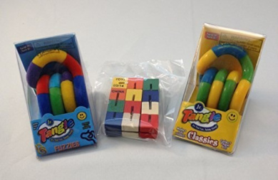 Set of 3 Fidget Toys - Tangle Jr. and Toysmith by Tangle Creations and Toysmith