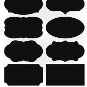 WinnerEco 40pcs Removal Jars Labeles Blackboard Stickers Chalkboard Lables for Kitchen, Pantry, Mason Jars, Wine Glasses