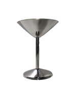 STREET CRAFT 180ml Stainless Steel Martini Goblets / Glasse