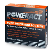 Skins Sexual Health Powerect 500 mg 'The Power To Perform' Food Supplement Capsules - Pack of 2