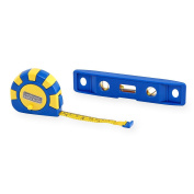 .   Home Workshop Tape Measure and Level Set
