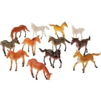 2 Dozen (24) Mini Plastic HORSE Figures 6.4cm TOYS Birthday PARTY favours Prizes PONY - CUPCAKE Toppers Teacher Rewards