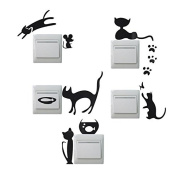 Paleo Creative Cat Switch Removable Wall Stickers Wallpaper PVC Vinyl Decal Home Decor