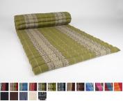 Roll Up Thai Mattress, 200x76x5 cm, Kapok, Cream White Green