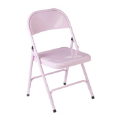 Protege Homeware Metal Pink Folding Chair