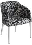 Febland Brigida Tub Chair, Fabric, Silver