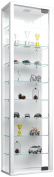 """VCM """"Stano Maxi"""" Cabinet with LED, Glass, White"""