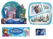 Disney Frozen Anna Elsa Olaf Sven Mealtime Dinnerware Set