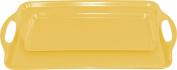 Calypso Basics Rectangular and Tidbit Serving Tray Set, Lemon